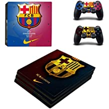 Elton FCB (Blue & Red) Theme 3M Skin Sticker Cover For PS4 Pro Console And Controllers