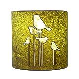 Craftter Handmade Paper Green Color Abstract Bird Wall Lamp 250 G (10cm * 22cm )