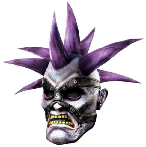 World Of Warcraft Deluxe Latex Mask, Forsaken, Purple, One Size