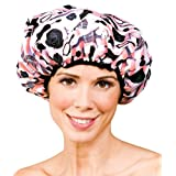 Betty Dain Betty Dain Stylish Design Terry Lined Shower Cap, The Socialite Collection, Boudoir, 4.32 Ounce