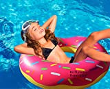RiffSpheres Giant Donut Inflatable Pool Float - Adorable 51 inch Giant Pool Floats Raft And Loungers For Adults And Kids. Perfect Gifts Ideas For Kids - Dad - Mom. You Will Love Relaxing On Our Big Pool Floaties Stacked With Mouthwatering Colorful Sprinkles. These Pool Inflatable Toys Is Suitable For Summer Fun - Birthdays - Party And Christmas Holidays Events. You And Your Family And Friends Will Have Loads Of Fun. Click On RiffSpheres For The Delicious Chocolate Donut Floatie (Colors May Vary)