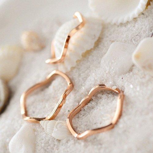 Popular 1PCS/SET Rings Urban Plain Above Knuckle Ring Midi Ring gold alloy