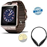 Gionee Marathon M5 Plusæ Compatible Certified DZ09 Smartwatch GSM SIM Card With Camera For Android IOS Gold With...