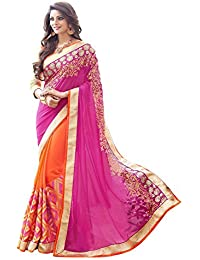 Sarees (Women's Clothing Saree For Women Latest Design Wear New Collection In Latest With Designer Blouse Free... - B074N3V5MT