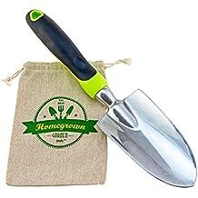 Garden Trowel With Ergonomic Handle From Homegrown Garden Tools; Includes Burlap Tote Sack