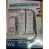 3 In 1 Double Battery Charge Station With Color Light For Wii Including Two(2) 2800 MAH Battery And USB Charger