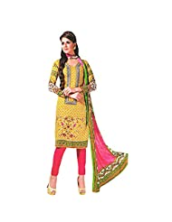 Siddhi Unstitched Cotton Printed Salwar Suit Dupatta Material ( SNOBLE-3AA )