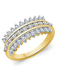 Eldora 18 Kt Gold Plated With American Diamond Ring For Women(PRG01034-A)