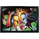 JaipurCrafts Beautiful Radha Kishna Digital Reprint Modern Art Painting (18 IN X 12 IN)