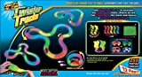Mindscope TT255 Neon Glow Twister Tracks, 255-Pieces, 12 x 7 x 4.5-Inch