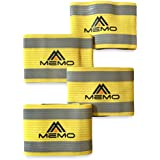 MEMO Athletics Reflective Arm And Ankle Bands (4 Bands/2 Pairs)   High Visibility And Safety For Jogging, Cycling...