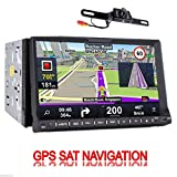 Rear Camera Included GPS Navigation 2 DIN In Dash Car Autoradio Stereo Headunit CD DVD