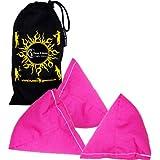 3x Tri It Juggling Balls Set Of 3 Pyramid Juggling Sacks, Bean Bags For Kids & Adults +Fabric Travel Bag. (Pink)