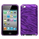 Flexi Soft Gel Skin Case for Apple iPod Touch 4th Generation – Zebra