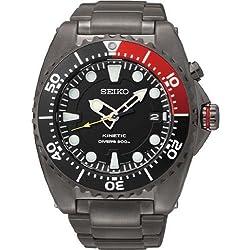 Seiko SKA577P1 Kinetic Black Dial Black PVD Stainless Steel Mens Watch