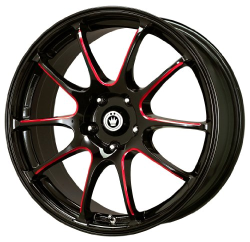 Konig Illusion Black Ball Cut Red Wheel (17×7″/5×114.3mm)