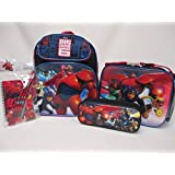 "Big Hero 6 Toddler Medium 12"" Backpack Book Bag, Lunch Box, Pencil Pouch & Stationery Set"