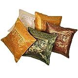 Ufc Mart Multi -Color Brocade Cushion Cover 5 Pc. Set, Color: Multi-Color, #Ufc00442