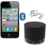AGPtek Mini BlACK Rechargeable Portable Bluetooth Wireless Speaker With Micro SD Card Slot For Laptop Tablet MP3...