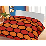 Lali Prints Red & Yellow Dots A.C Blanket Double Bed Size Dohar