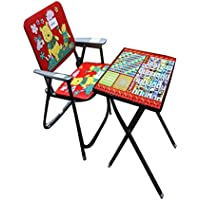 ABASR BABY KIDS RED STUDY TABLE AND CHAIR