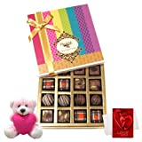 Best Seasonal Gift Box Collection With Teddy And Love Card - Chocholik Belgium Chocolates