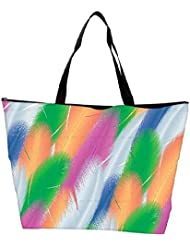 Snoogg Feathers Vector Background Waterproof Bag Made Of High Strength Nylon