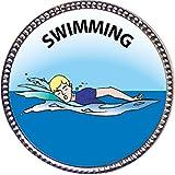 Keepsake Awards Swimming Silver Award Pin
