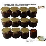 Pure Source India Round Glass Jar ,150 Grams,12-Piece