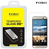 For HTC M9 Round Curved 2.5D Edge FOSO(TM) 9H Hardness Toughened Tempered Glass Screen Guard Protector (99.99%...