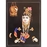 "Dolls Of India ""krishna Prying For Butter"" Reprint On Card Paper - Unframed (29.21 X 22.86 Centimeters)"