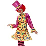 Smiffys Womens Circus Party Clown Plus Size Halloween Costume