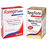 HealthAid Energy Vitality Combo (tang Forte Royal Jelly 30 Capsules And Korean Ginseng 30 Capsules)