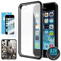 SPIGEN IPhone 5S Case Bumper **NEW Release** [Ultra Hybrid] [Black] FREE Screen Protector + 2 FREE Design Graphics...