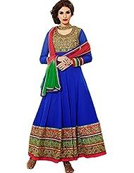 Zohraa Blue Faux Georgette Anarkali Suit TouchZoya1003