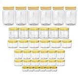Sunpet Premium Plastic Round Jar Set No109480-36 Of 36 Pcs