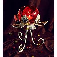 Orlando's Decor Candles Lotus Candle Holder With Red Jar - B01KTN390U