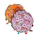 Decorative Patch Work Cotton Floral Orange D-18 Cushion Cover 08747
