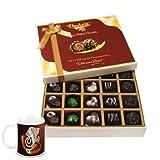 Chocholik Belgium Chocolates - Beautiful 20 Pc Mix Assorted Chocolate Box With Diwali Special Coffee Mug - Diwali...
