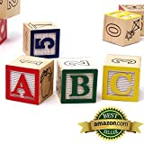 My ABC Blocks - 380.2 - 50 Solid Wood Learning Blocks With Storage Pouch - Letter, Number And Pictur