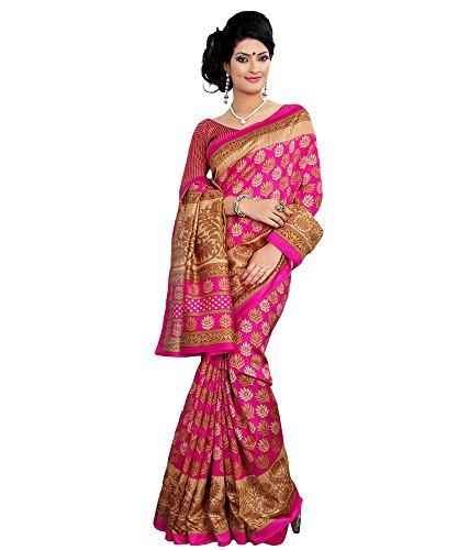 Anu Designer Self Print Saree (6402B_Multi-Coloured)