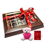 Gorgeous Collection Of Chocolates With Teddy And Love Card - Chocholik Belgium Chocolates