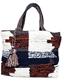 Diwaah Beautifully Handcrafted Casual Cotton Multi Color Tote Bag With No Closure (DWH000000824)