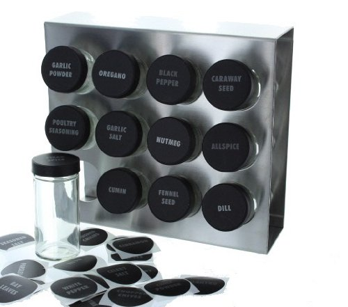 wall mount stainless steel spice racks