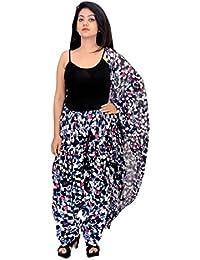 Fashion Store Women Printed Solid Cotton Full Multi-Coloured Patiala Salwar Dupatta Set(Free Size,Blue)