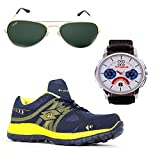 Elligator Red & Black Stylish Sport Shoes,& Watch With Spartiate Sunglass For Men's - B014DSDUCY