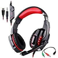 KOTION EACH G9000 3.5mm LED Light Headband Gaming Headset/Game Headphone With Microphone For PlayStation 4 PS4Tablet...
