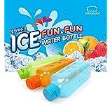 Lock&Lock Ice Fun And Fun Fridge Bottle Set, Set Of 3, 1 Litre, Blue/Green/Orange