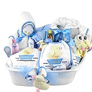 Amazon.com : Pampered New Baby Boy Bath Time Gift Basket