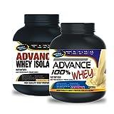 Advance Whey Isolate Protein 1kg Vanilla& ADVANCE 100% WHEY 25gm Protein Per 33gm 1kg Vanilla (Combo Offer)